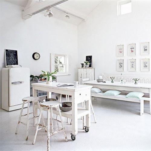 decoración de ambientes en blanco