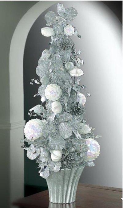 Decoraci n de navidad en blanco para casa decoracion in - Decoracion arbol de navidad blanco ...