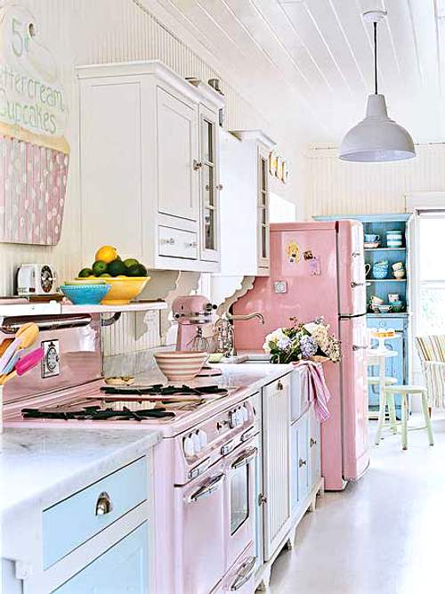 decoracion cocina color pastel
