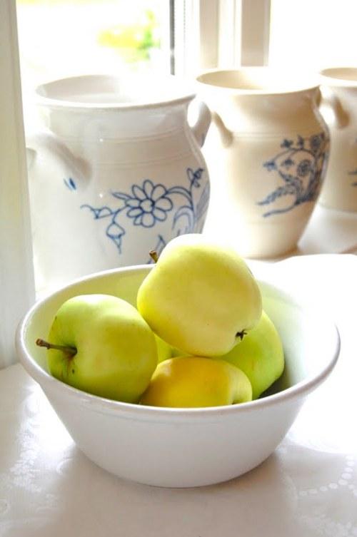 decoración con color, frescura y frutas