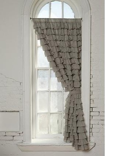 Cortinas De Baño Disenos Originales:Grey Ruffle Curtain
