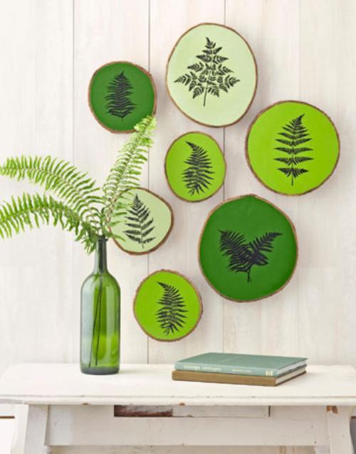 cómo decorar con gama de verdes