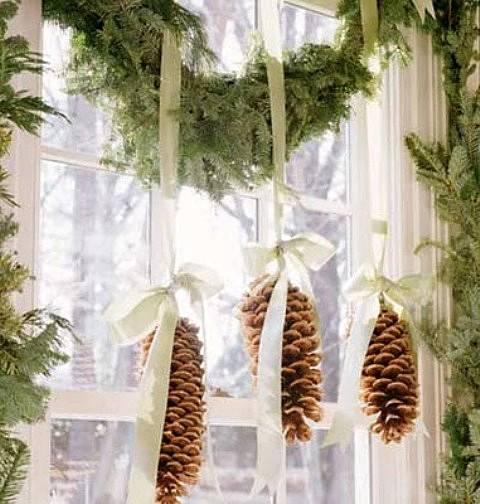 decoracin de navidad con pias