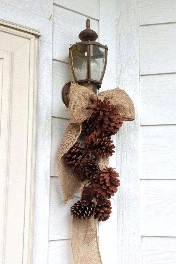 decoración navideña para la puerta de entrada