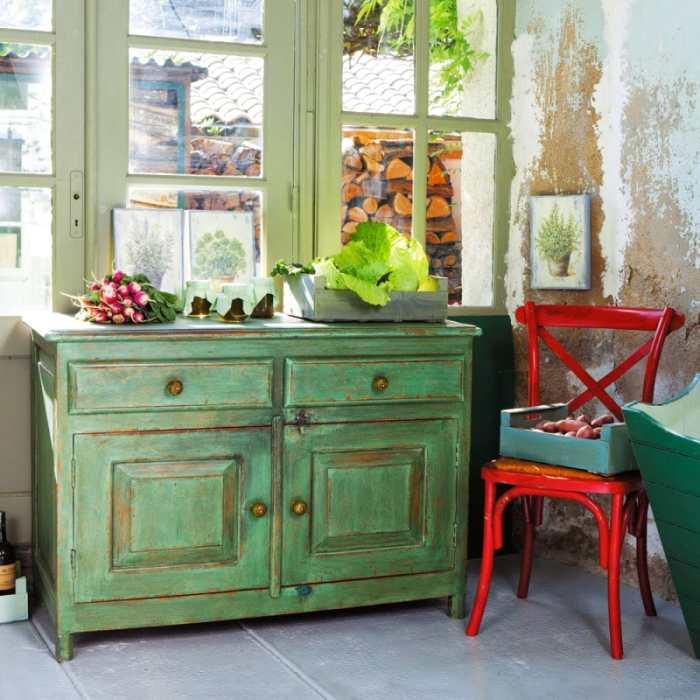 Decorar con estilo retro y vintage en verde decoracion in - Muebles de cocina estilo retro ...