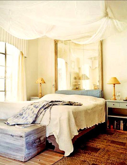 decoración romántica del dormitorio