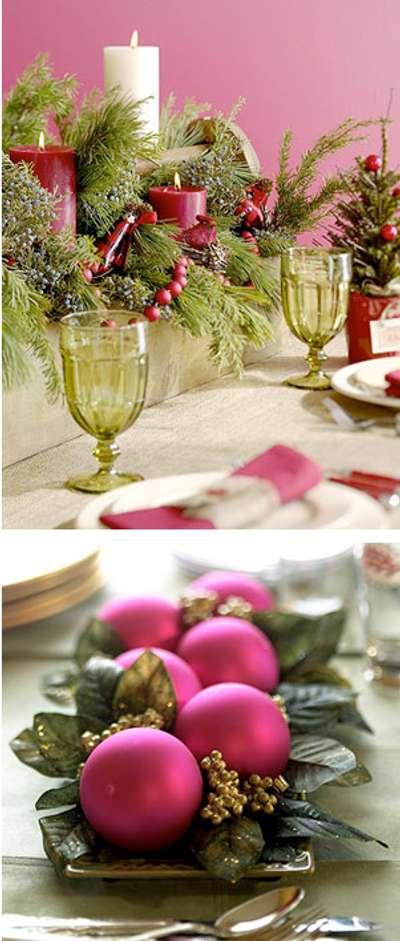 colores en la mesa Navideña