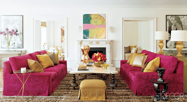 decorar con color fucsia