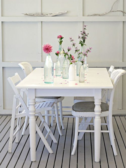 decorar comedores en blanco