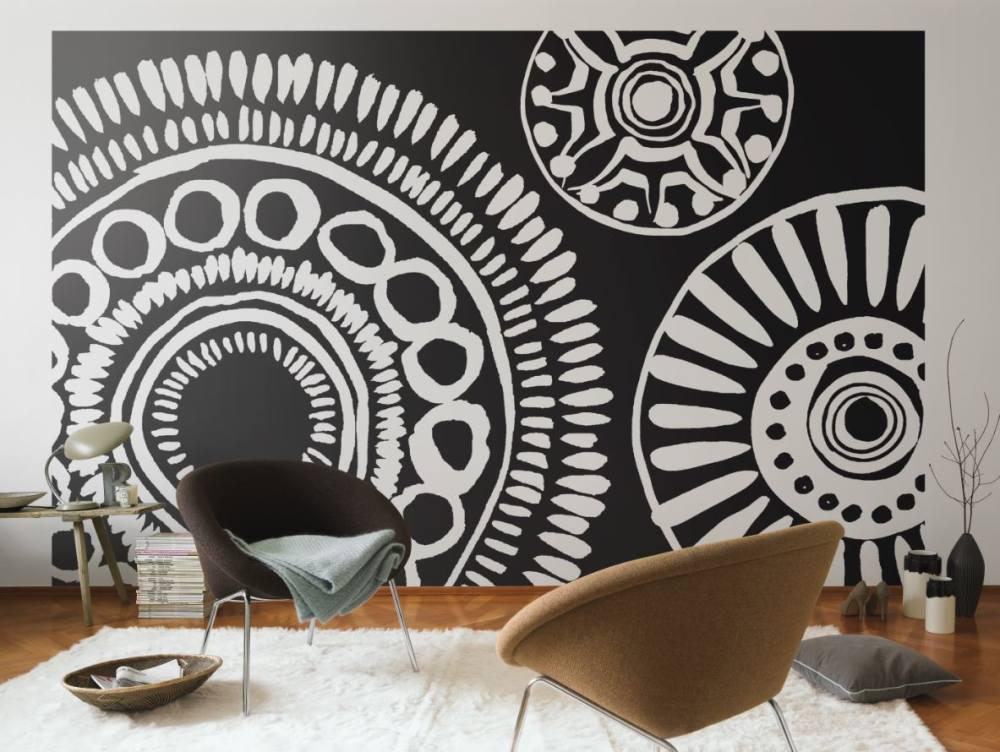 Decorar con papel pintado 5 tendencias decoracion in - Papel pintado para salon blanco ...