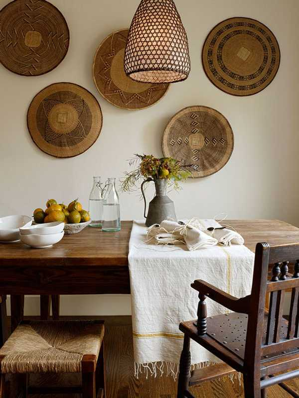 decorar con fibras vegetales