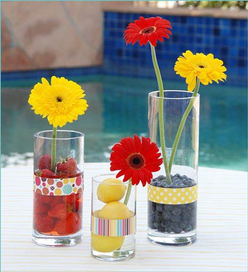 decorar con flores y frutas
