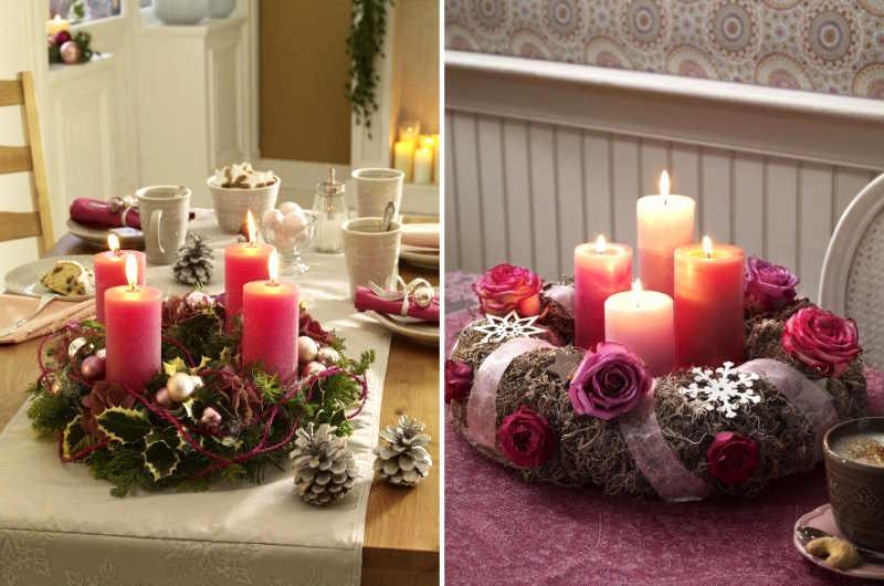 decorar con flores y velas