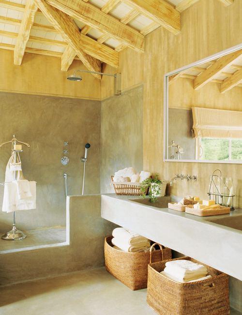 Decorar Un Baño Rustico:Sello Rústico en Baños Actuales – DecoracionIN