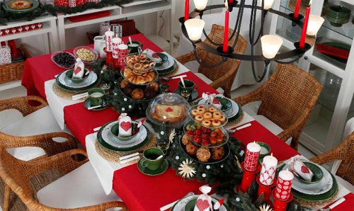 decorar la mesa de navidad con ikea decoracion in