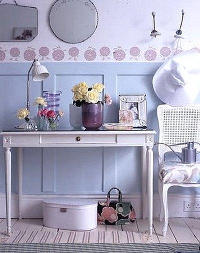 decorar el recibidor en tonos pastel