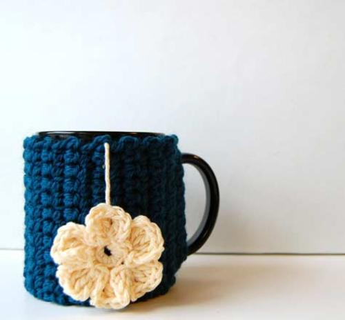 Decorar Tazas Con Crochet