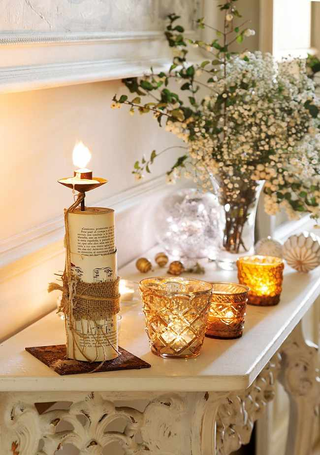 Diy con velas para navidad decoracion in - Centro de navidad con velas ...