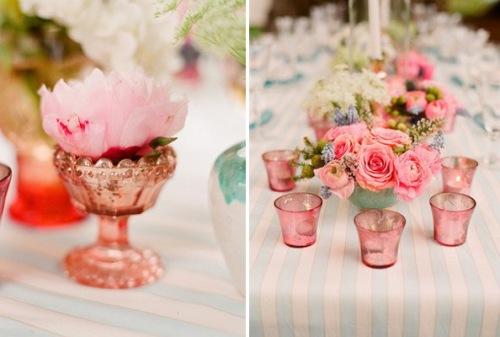 Decoraci n rosa para la mesa decoracion in - Decoracion de cumpleanos rosa y dorado ...