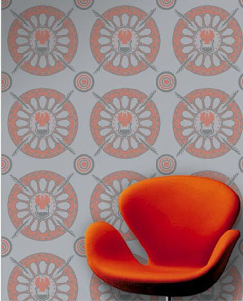 Dise o y color en las paredes con papel pintado for Papel pared diseno