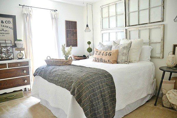 dormitorio campestre y vintage