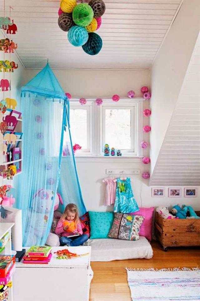 Casa con interiores bohemio chic decoracion in - Dormitorio infantil original ...