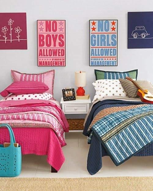 Ideas habitaciones compartidas por jóvenes y niños   decoracion.in