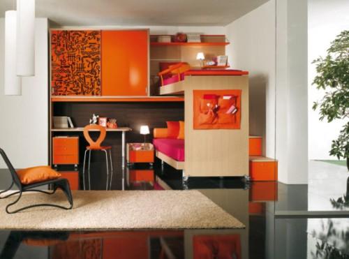 Kids Contemporary Bedroom Design 500 x 371