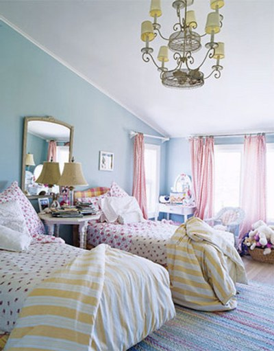 Dormitorio de ni as y jovencitas ideas para decorarlo for Blue and pink bedroom ideas