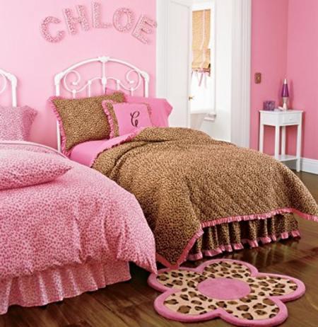 Rosa Y Marr N Para El Dormitorio De Las Ni As Pink And