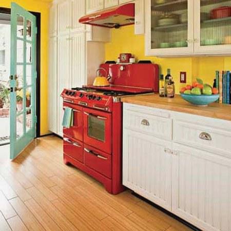 electrodomésticos y artefactos coloridos