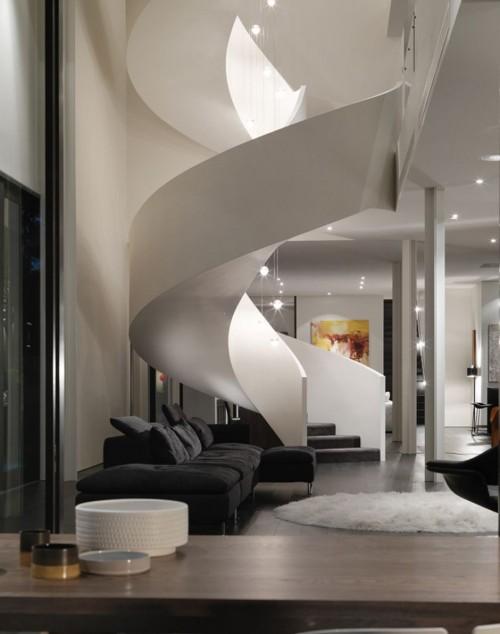 Escultural y moderna escalera caracol decoracion in - Escaleras de caracol modernas ...