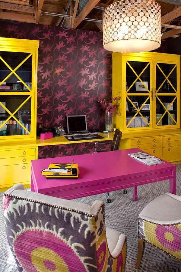 Espacio de trabajo colorido y con estilo decoracion in for Decoracion de espacios de trabajo