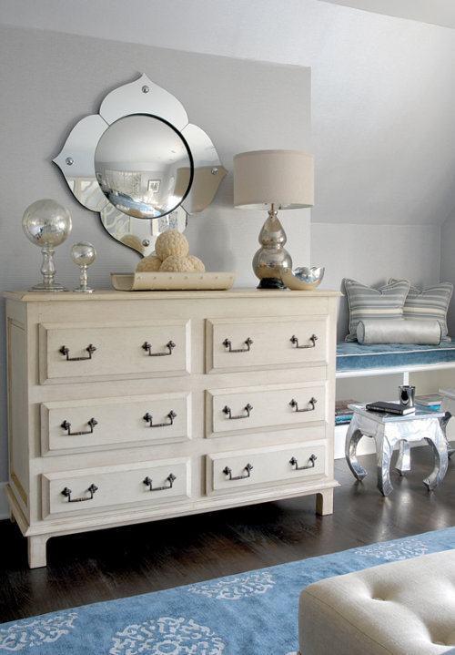 Espejos y turquesa en la decoraci n del dormitorio - Espejos para dormitorios juveniles ...