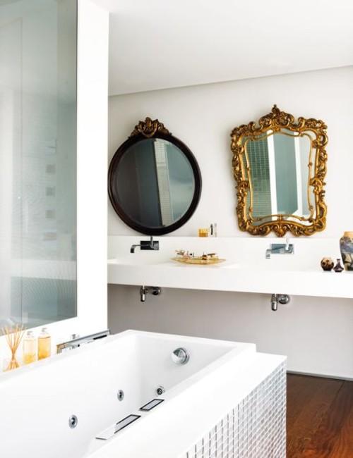 Decoracion Baño Estilo Antiguo:Espejos Vintage en la Decoración de un Baño Moderno – DecoracionIN
