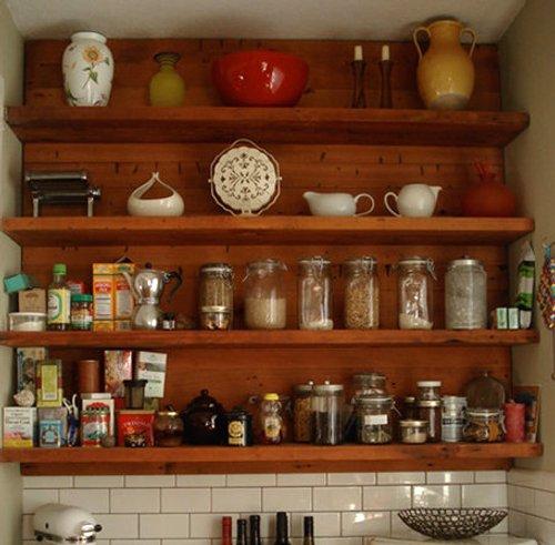 Estantes y baldas para la decoraci n de cocinas - Decoracion pared cocina ...