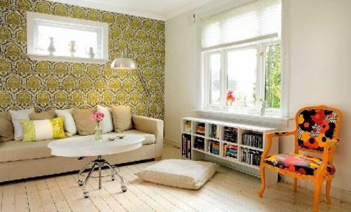 Decoracion Living Vintage ~ Predominan en esta vivienda los suelos de madera , el blanco como