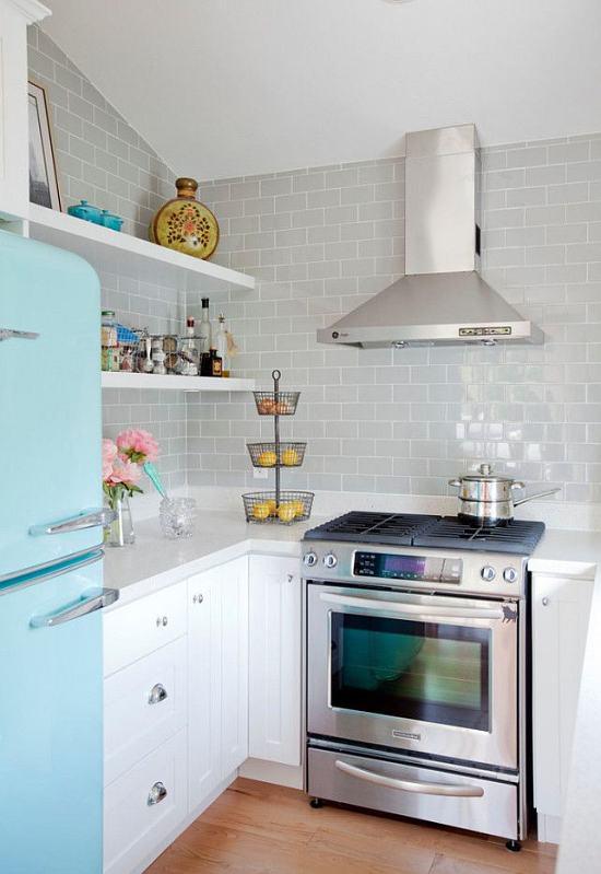 Decora con encanto una cocina peque a decoracion in - Electrodomesticos para cocinas pequenas ...