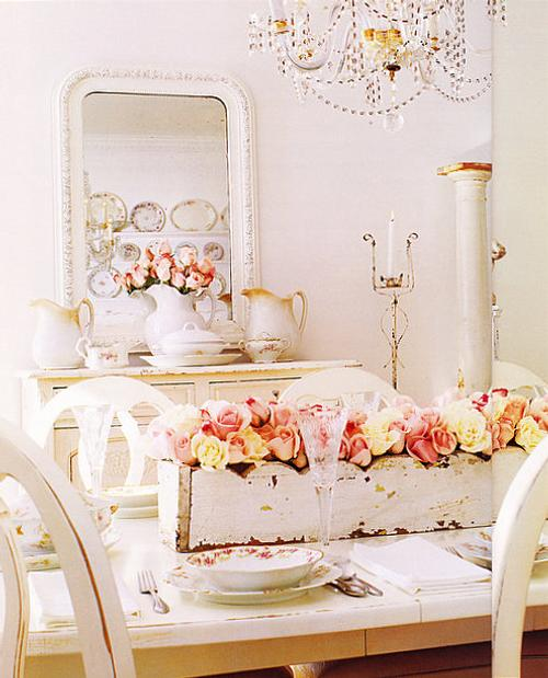 Estilo shabby chic en el comedor decoracion in for Ideas deco estilo
