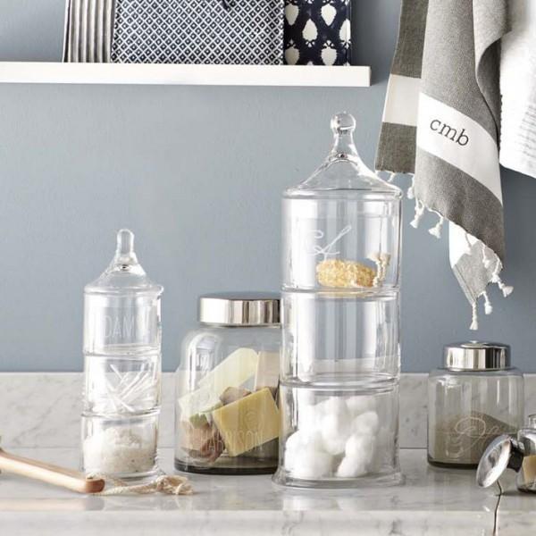 frascos de cristal decorativos