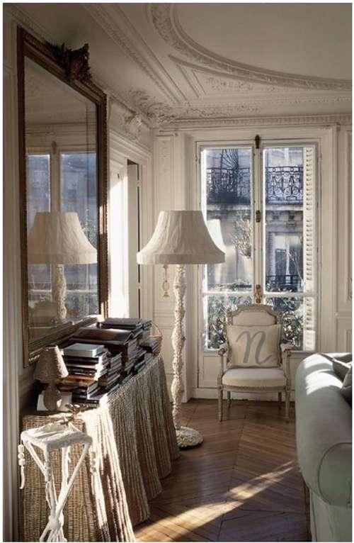 Grandes espejos en el sal n decoracion in for Case francesi arredamento