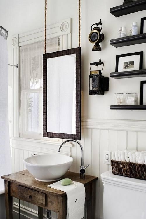 Ideas Para Decorar Baño Blanco:Idea de Decoración para Baños, Blanco, Madera y Detalles Vintage