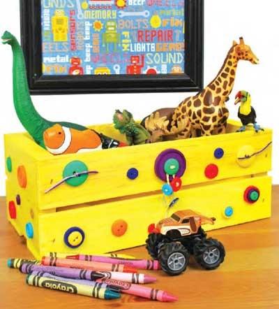 C mo reciclar cajas de frutas en pocos pasos decoracion in - Cajas para almacenar juguetes ...