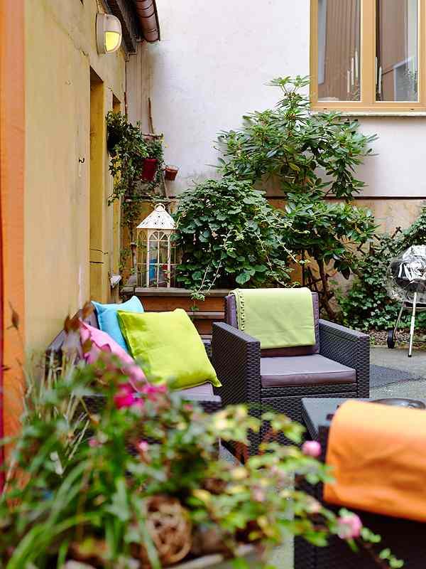 ideas con color para el jardín