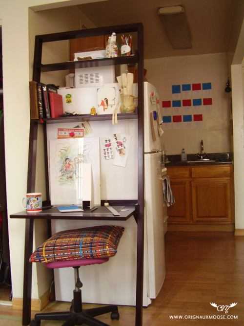 escritorio en una cocina
