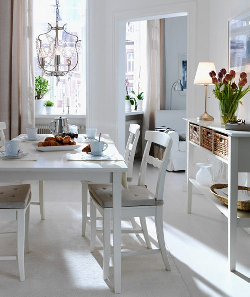 Ideas para decorar el comedor y la cocina cat logo ikea for Como decorar un living comedor rectangular grande