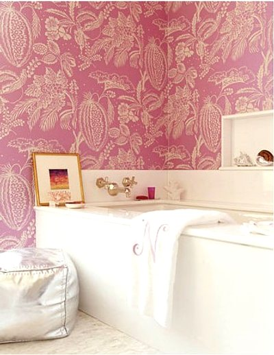 ideas para decorar con papel pintado