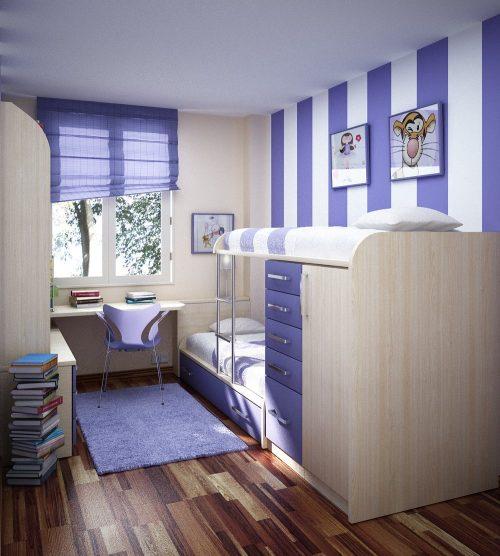Habitaciones para ni os en espacios peque os imagui - Habitaciones de ninos pequenas ...