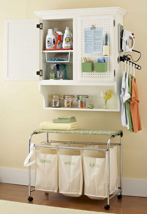 ideas para organizar el cuarto de lavado y plancha en casa