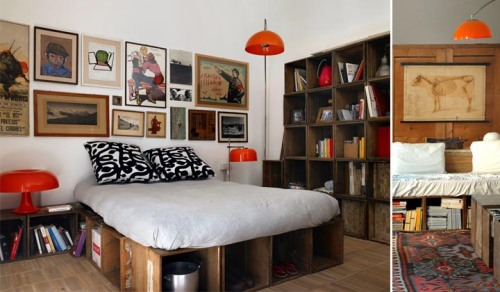 Las ideas de decoración con cajas de madera que acompañan esta